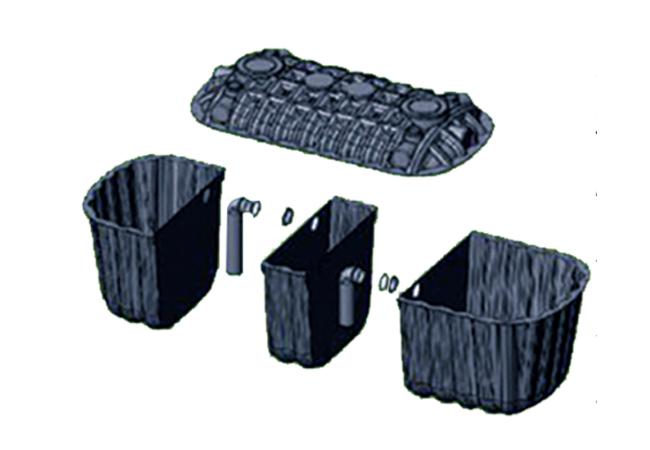 多功能组合化粪池—三格式
